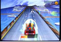 Indoor Amusement Car Racing Arcade Game Machines For Children 1 Year Warranty