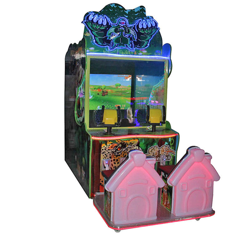 Stable Kids Ball Shooting Arcade Machine Metal Material For Amusement Park