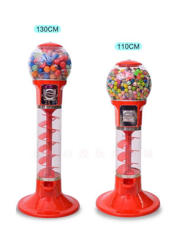 ABS Material Arcade Games Machines / Mini Spiral Gumball Machine